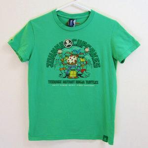 TMNT Green T-Shirt-Johnny Cupcakes Turtles-Kids L
